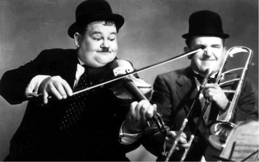 laurel and hardy entertainers clean comedians 1930