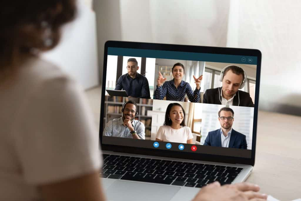 woman on a virtual meeting