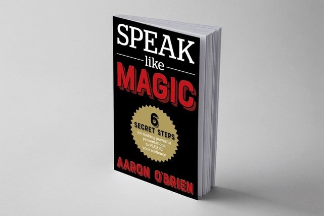 book cover speak like magic aaron o'brien