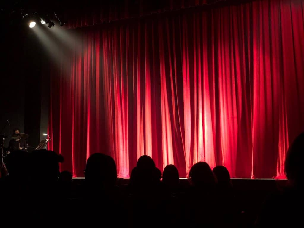 A comedy show typically lasts for one hour and a half
