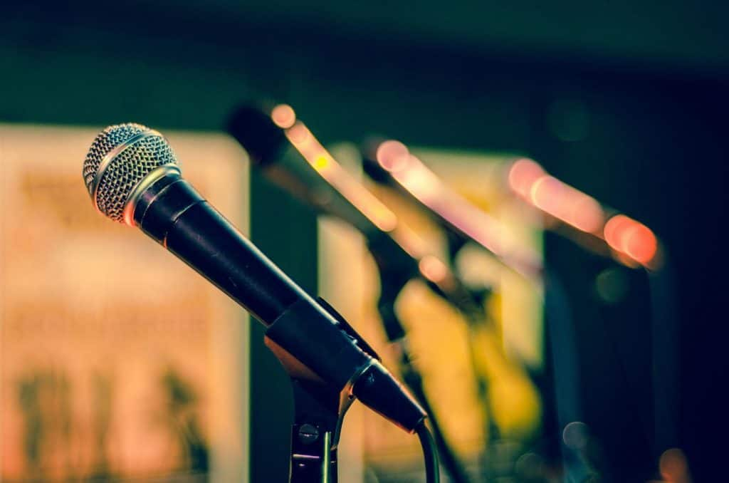 Get feedback from fellow comedians on your stand-up routine