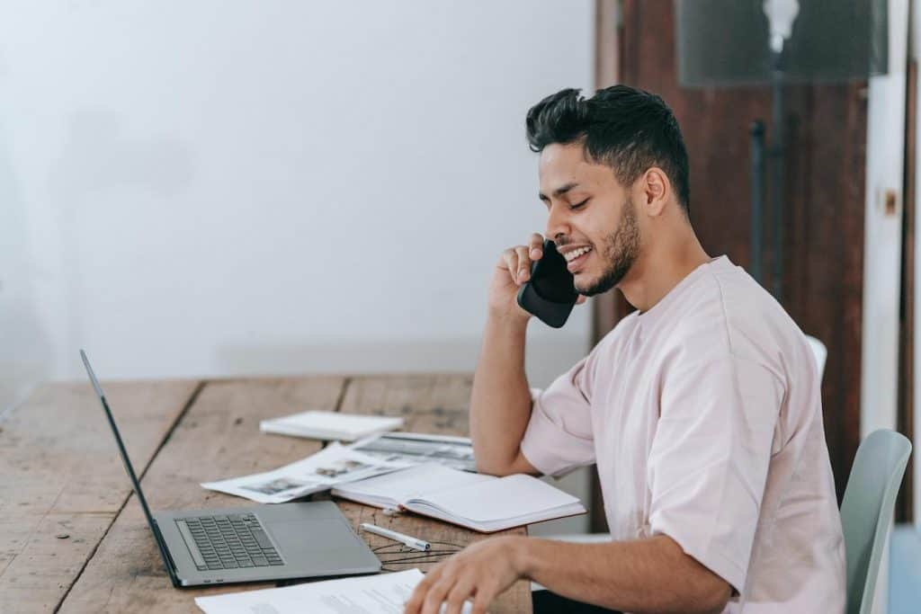 Phone communication is an important way of relaying information when workers are remote